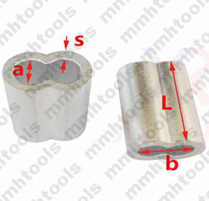 aluminum sleeve for wire rope
