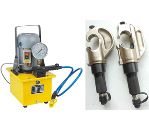 electrical pump operated hydraulic crimping head