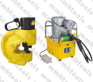 electrical pump operated hydraulic hole punching machine