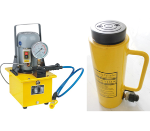 electrical hydraulic pump operated hydraulic cylinder
