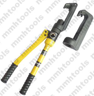 Hydraulic wedge connector crimping tool
